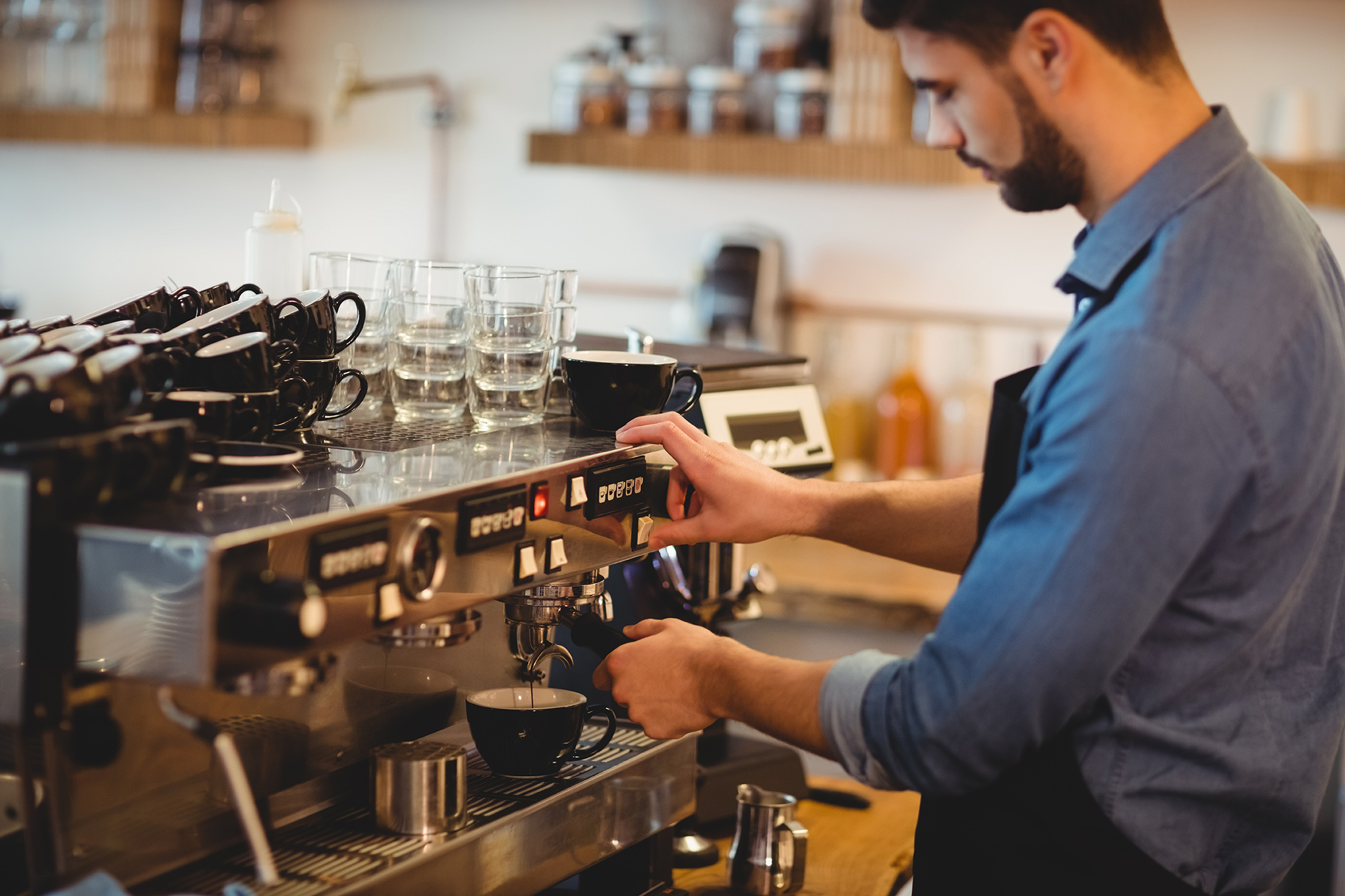 Espresso Coffee Making Image
